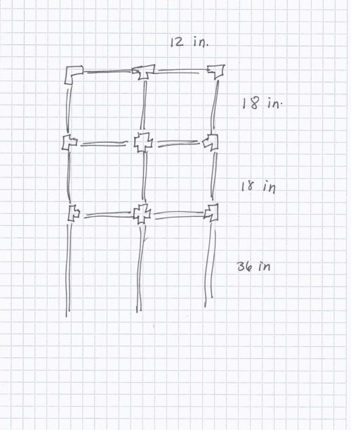 small resolution of i decided to build my own trellis out of pvc piping i like pvc because it s lightweight easy to work with and an unexpected material in a garden