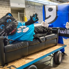 Carolina Panthers Chair Used Outdoor Chairs Make Large Donation Of Bank America