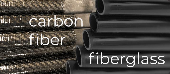carbon fiber and fiberglass