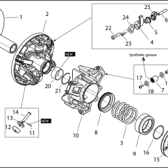 Arctic Cat 650 V Twin Wiring Diagram Jl Audio Diagrams Snowmobile Primary Clutch