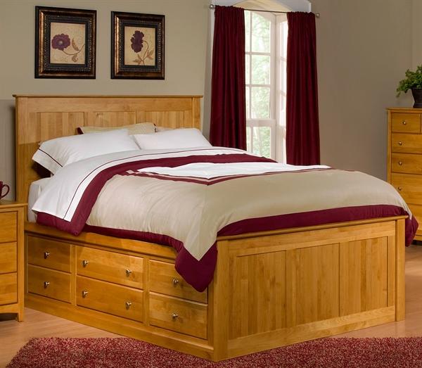 Alder Captains Bed