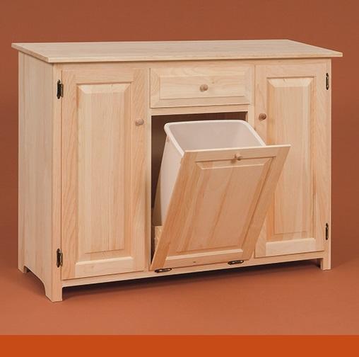 kitchen cabinet trash bin