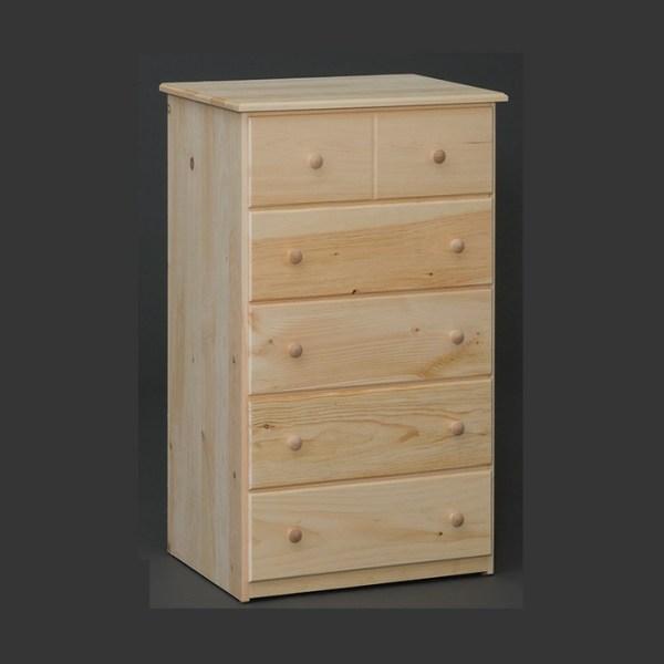 5 drawer pine chest