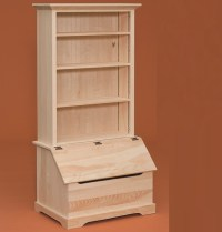 Toy Box with Bookcase Storage