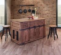 Parota Wood Barn Door Kitchen Island