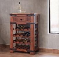 Parota Wood Wine Cabinet