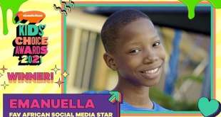 Emanuella Wins Nickelodeon 'Favourite African Social Media Star'