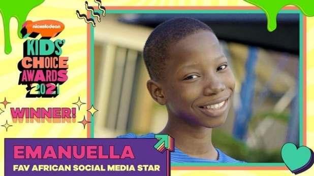 Emanuella Wins Nickelodeon 'Favourite African Social Media Star'