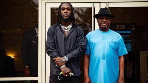 Governor Wike Gifts Burna Boy A Land And Millions of Dollars To Build A Mansion