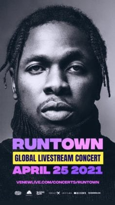 """Runtown Gives Updates On His """"Global Livestream Concert"""""""