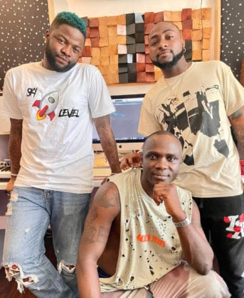 Skales And Davido Music Coming Soon, Watch Their Studio Session