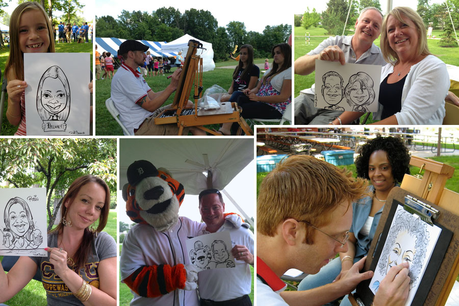 Summer Picnic Caricature artists
