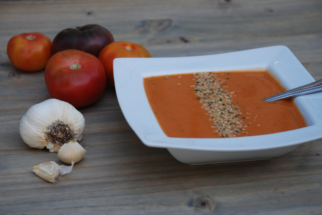 Creamy Vegan Heirloom Tomato Soup