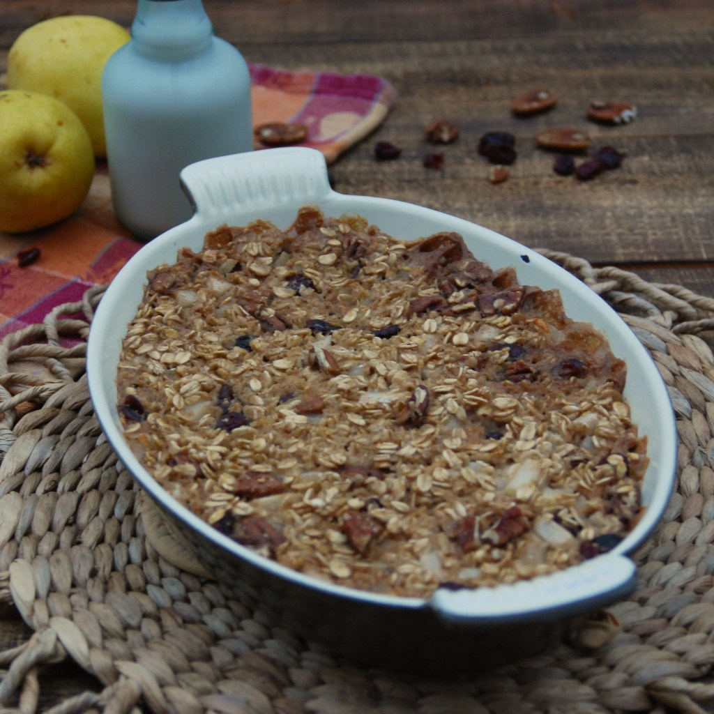 Baked Pear and Ginger Oatmeal