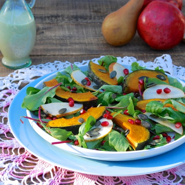 Roasted Kabocha Salad