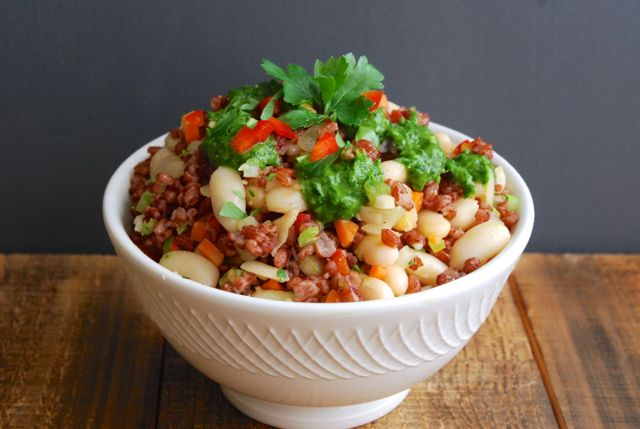 Cannellini Bean and Red Rice Bowls
