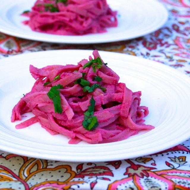 Vegan Pink Alfredo Pasta