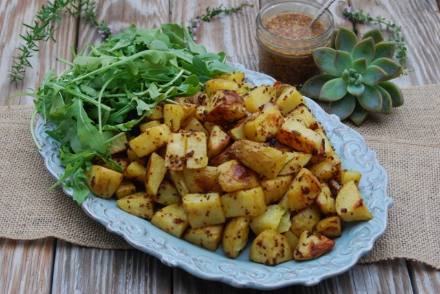 Roasted Rosemary Mustard Potatoes