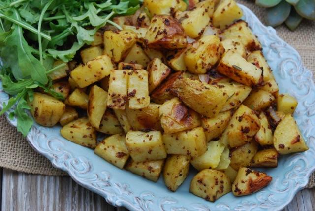 Roasted Rosemary Mustard Potatoes