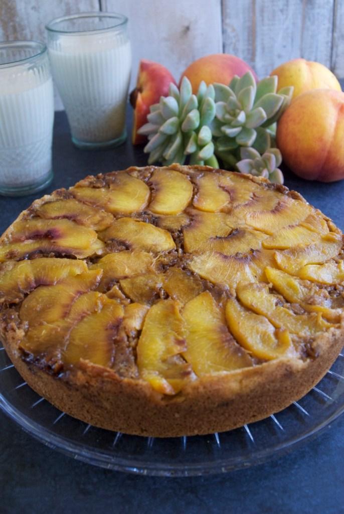 Gluten-Free-Vegan-Peach-Upside-Down-Cake