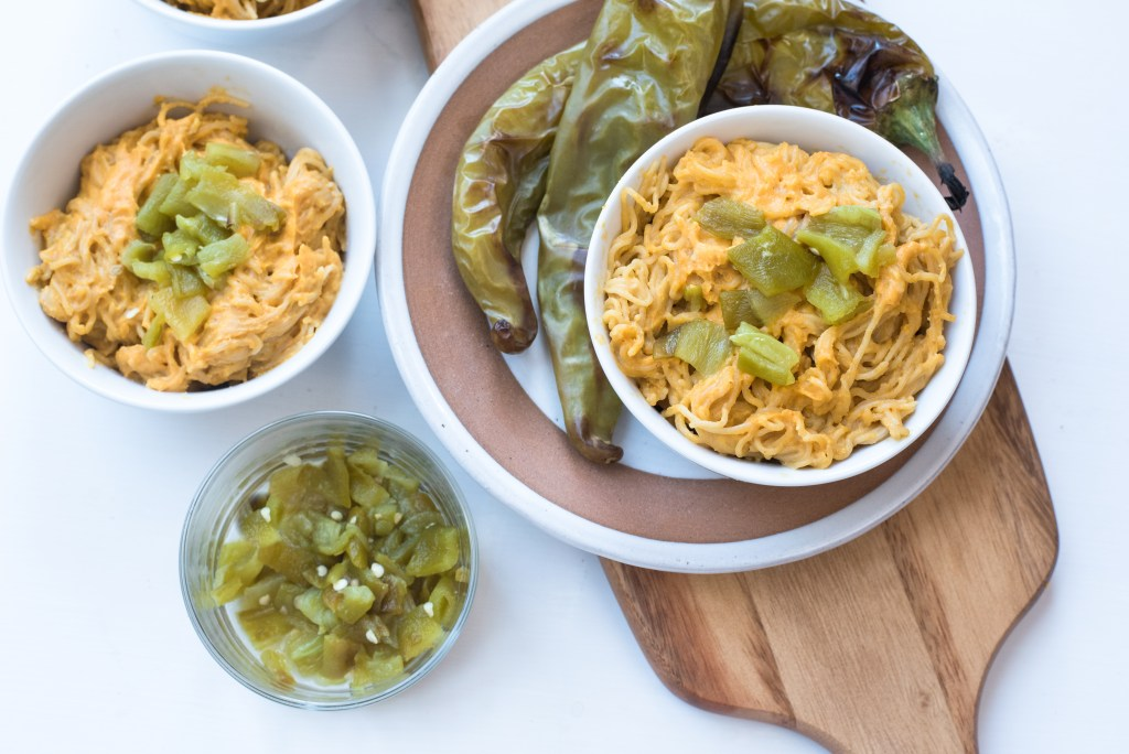Hatch Chile Vegan Ramen Mac and Cheese