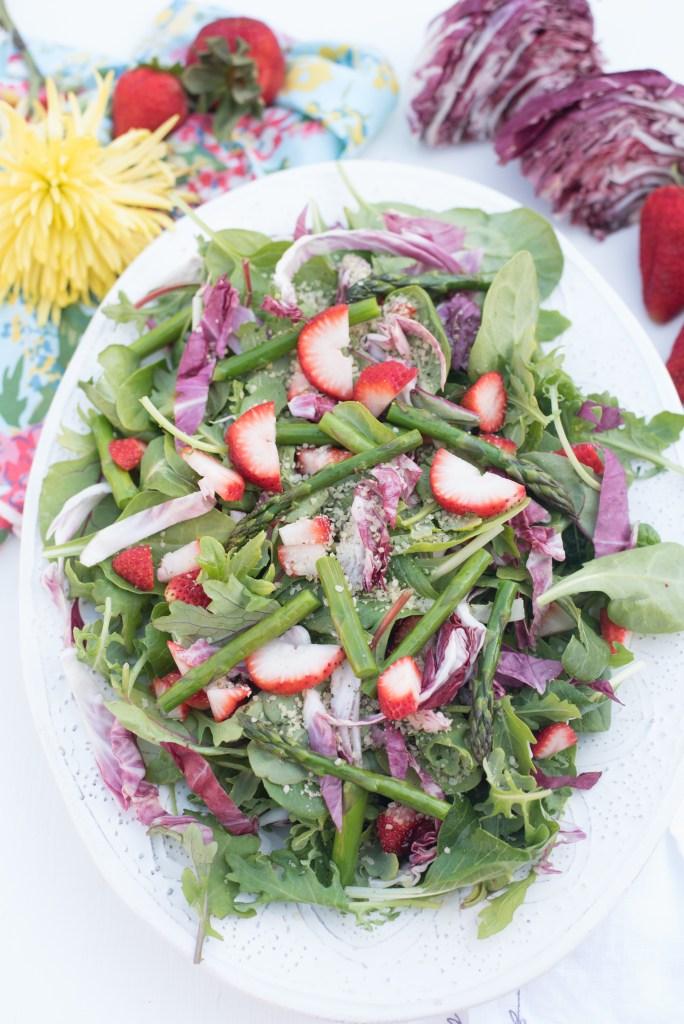 Bitter Greens Spring Strawberry Salad