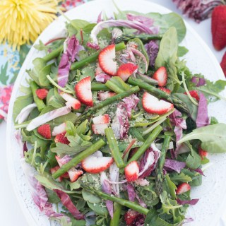 Bitter Greens Spring Strawberry Salad