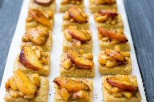 Vegan Peach Rosemary Polenta Bites