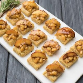 Vegan Rosemary Peach Polenta Bites