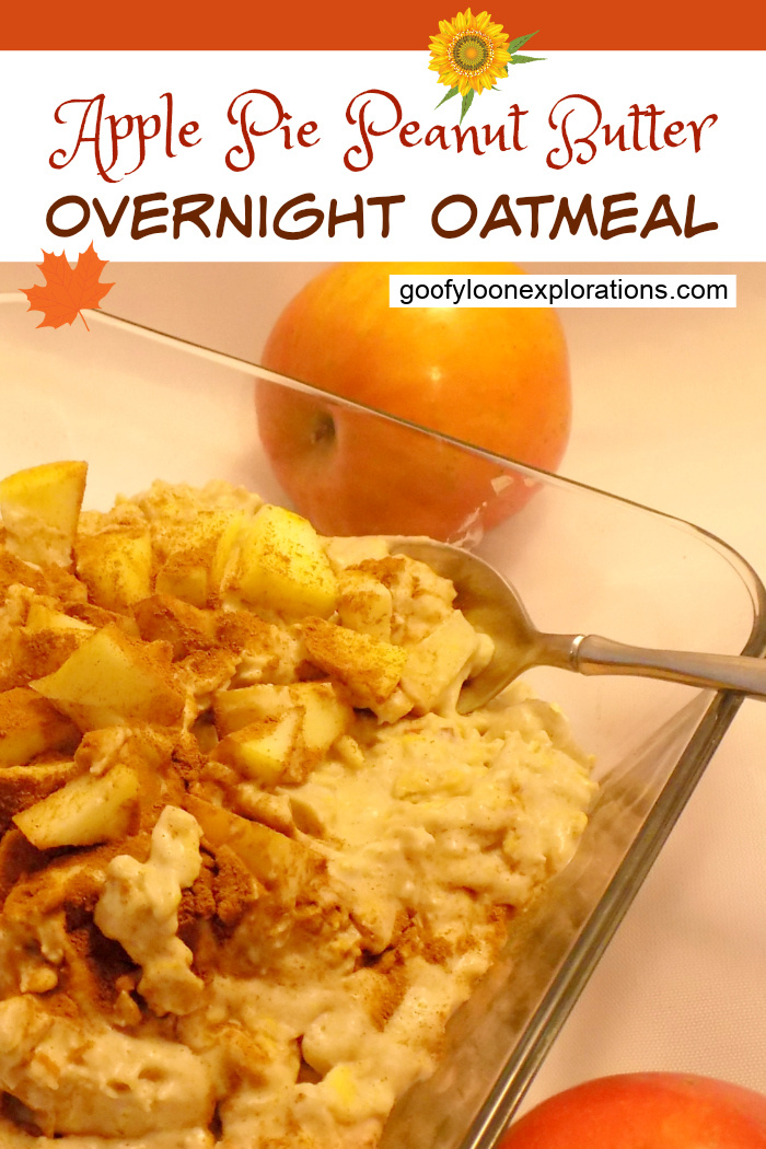 Apple Pie Peanut Butter Overnight Oatmeal