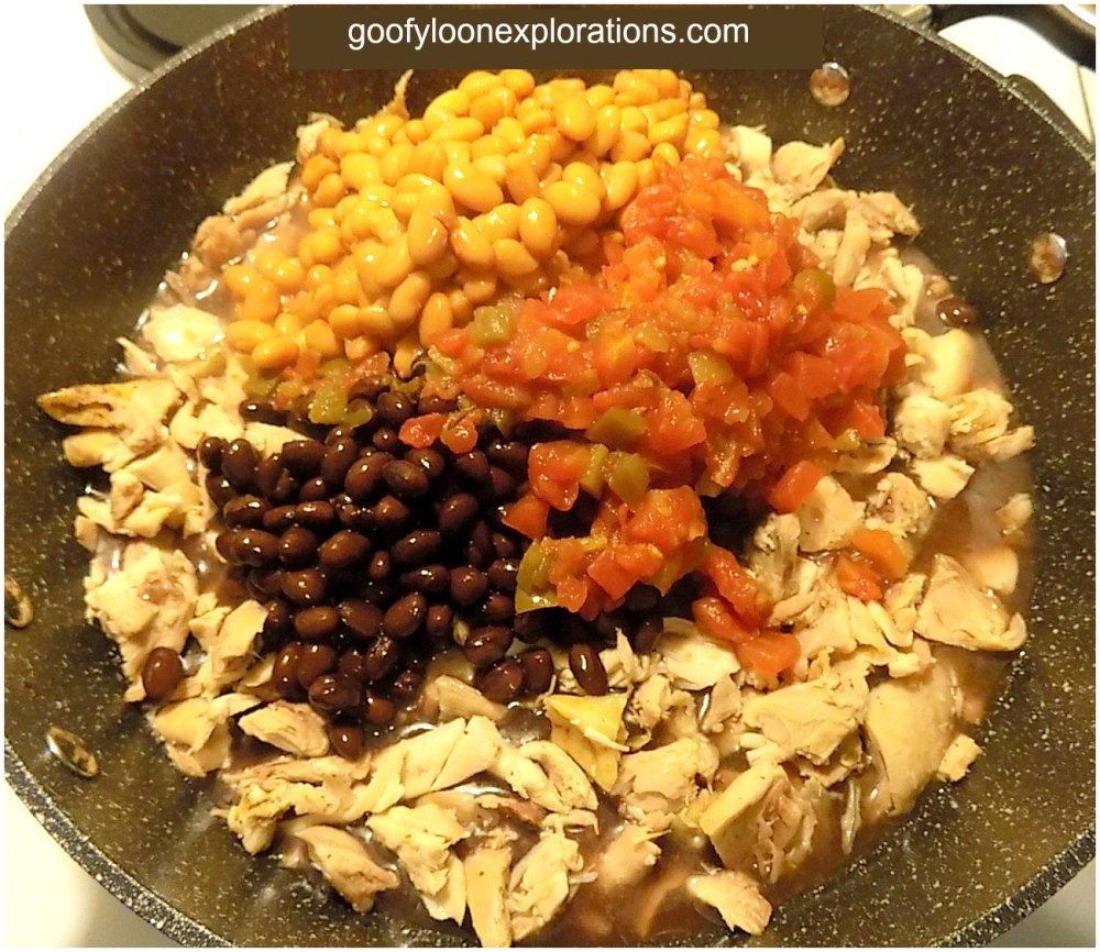 Quick and Easy Chicken Burritos - Chicken, Beans, and Tomatoes