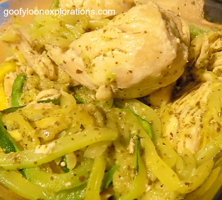 Chicken Pesto Zoodles