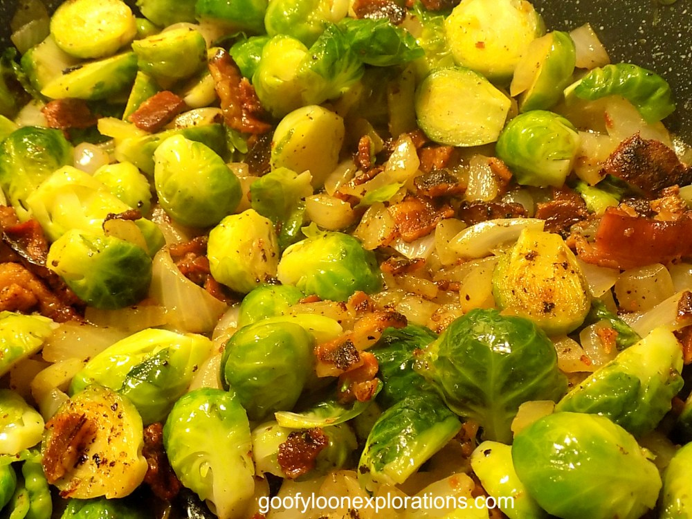 Brussel Sprouts With Bacon and Onions - Brussel Sprouts with Bacon 2