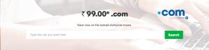 .COM Domain name sale at Rs99