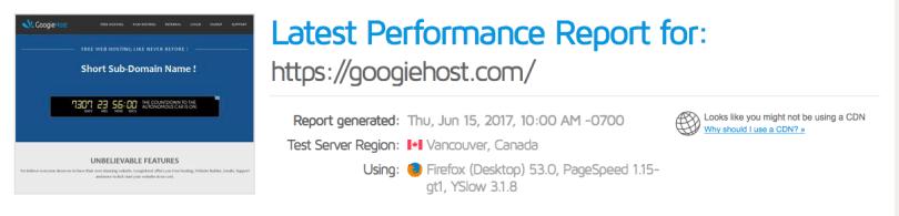 GtMetrix Performance testing tool