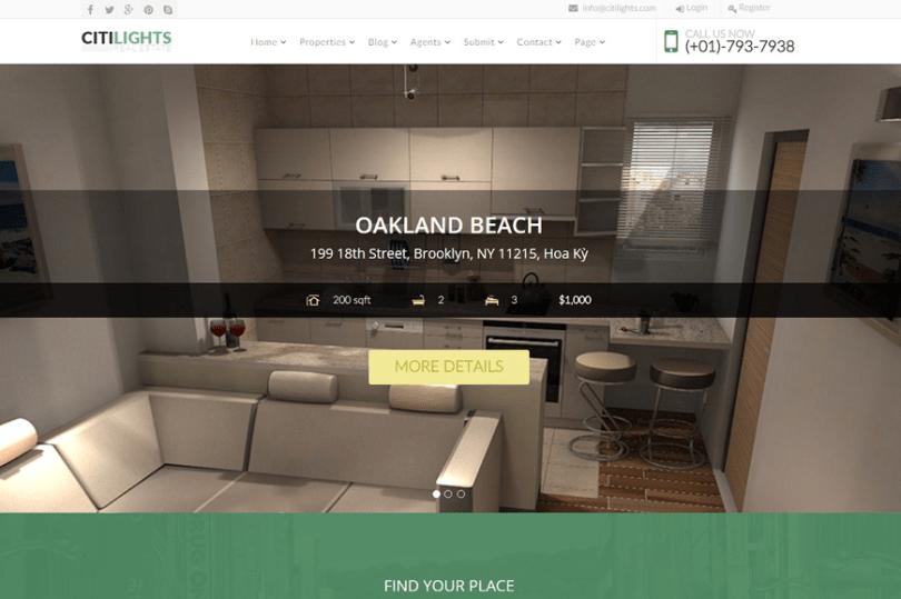 Joomla Real Estate Citilights Theme