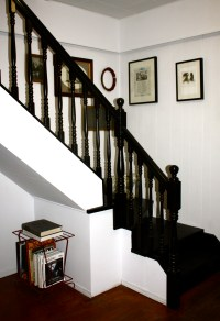 How to paint a staircase black | Googled Then Oogled