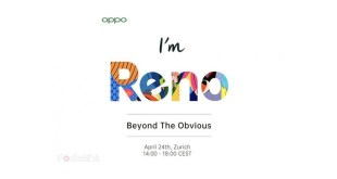 Oppo Reno Launch on April 24 with 10x zoom and 5G support