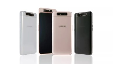 The Galaxy A80 is designed with three reversible cameras