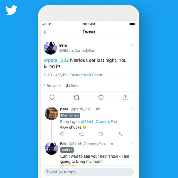 Twitter testing new thread labels