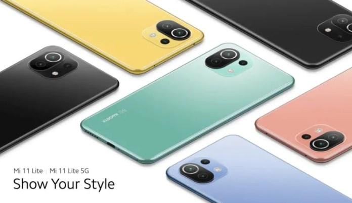Mi 11 Lite Colours, price