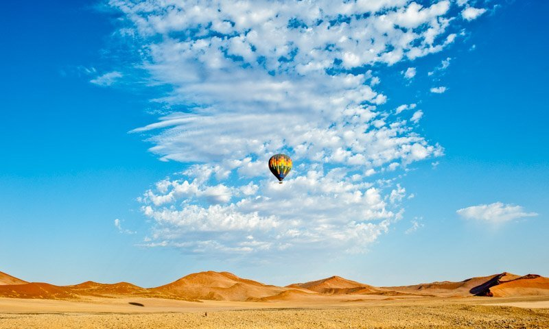 Air Balloon Sossusvlei Namibia Landscape Photography