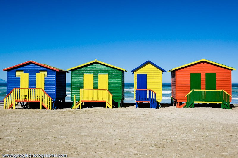 Colourful Beach Cubicles Muizenberg Cape Town South Africa Travel Photography