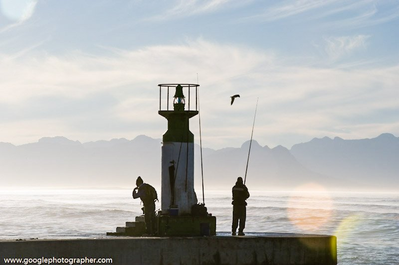 Fishermen Kalk Bay Harbour South Africa Travel Photography