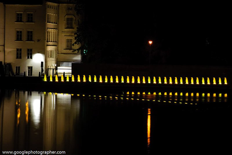 Penguin Lights Prague Czech Republic Travel Photography