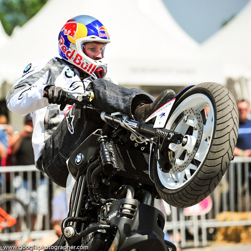 Chris Pfeiffer, 4 times World Champion Motorrad Stunt Rider Action Photography