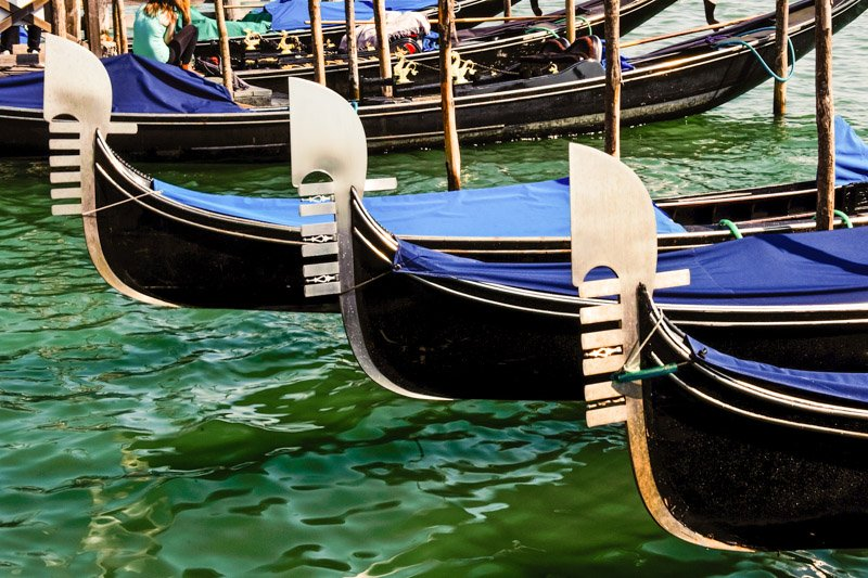 Gondolas at Anchor Venice Italy Travel Photography