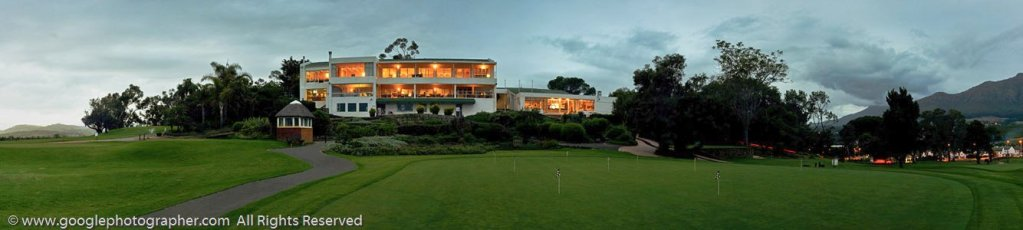 Golf Clubhouse in the Evening Panoramic Photography