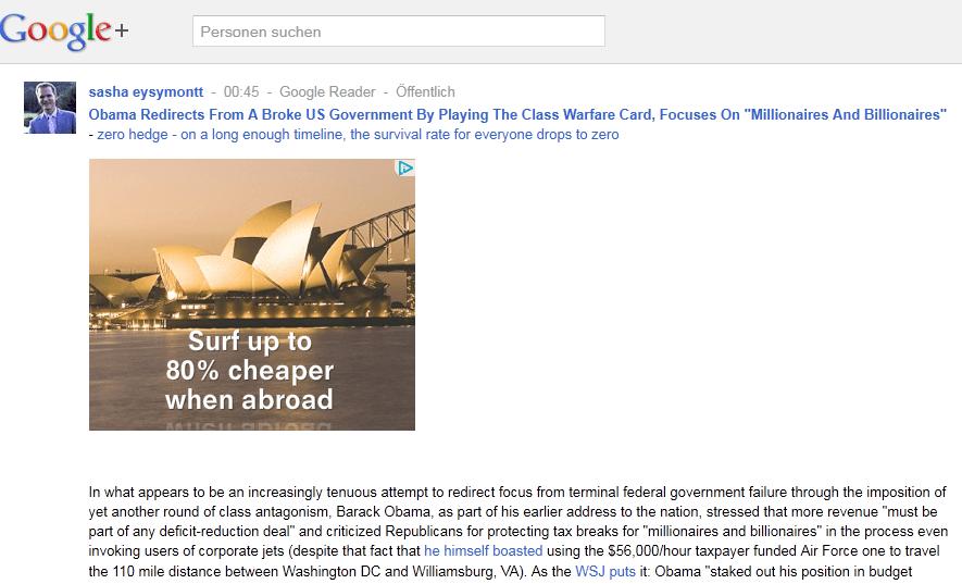 Google Plus ohne Einladung anschauen (2/3)