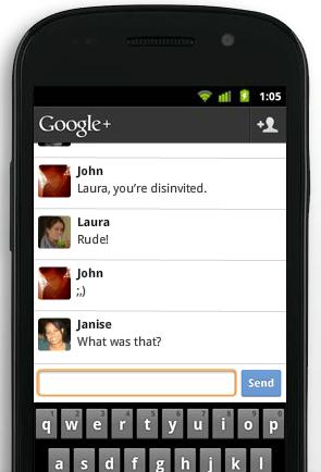 Vorstellung von Google+ Huddle (2/2)